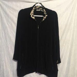 Chico's travelers black zip jacket xl 3
